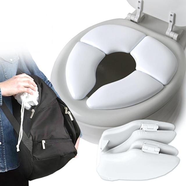 Portable Folding Child Toilet seat Warm Soft skin Potty Chair Pad Cushion Baby Training Toilet Children Safe Hygiene