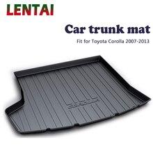 EALEN 1PC Car rear trunk Cargo mat For Toyota Corolla E140/E150 2007 2008 2009 2010 2011 2012 2013 Anti-slip mat Accessories leather car trunk mats fortoyota corolla lc80 lc100 lc200 2008 2009 2010 2011 2012 2013 2017 car floor rear cargo liner mats