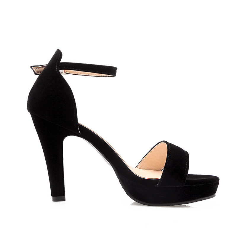 Karinluna 2018 גודל גדול 33-43 קרסול רצועת עקבים גבוהים קיץ סנדלי נעלי אישה אופנה פלטפורמת קרסול רצועה נשים סנדלי