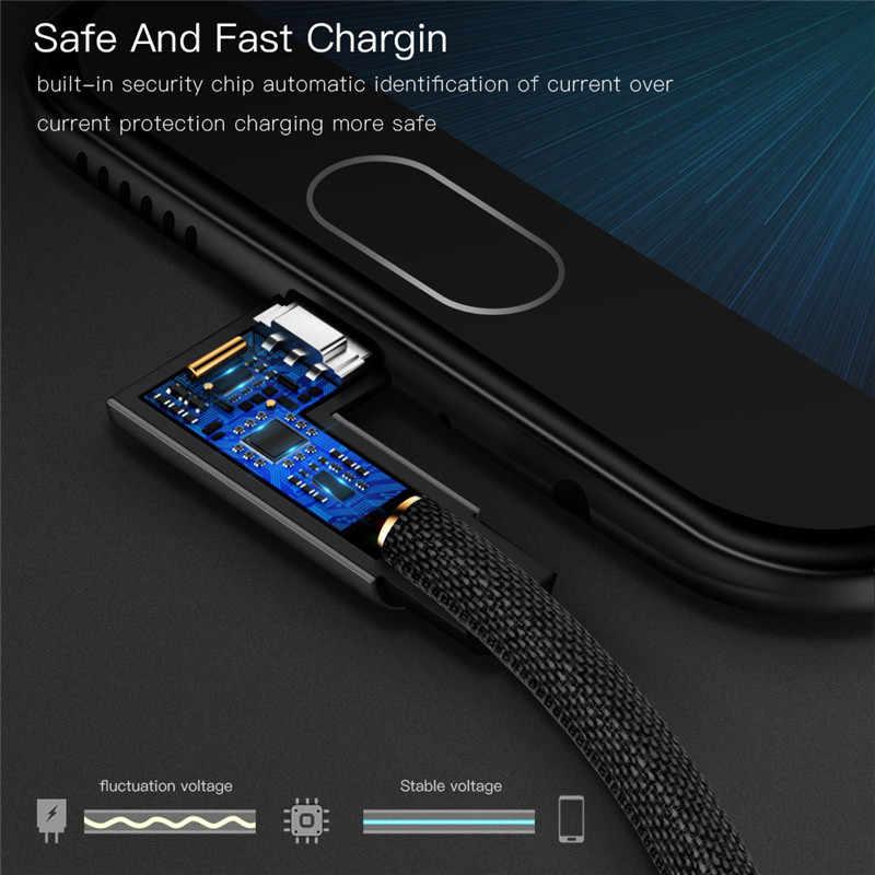 المصغّر USB نوع C سريع محول الشحن كابل لسامسونج مايكرو نوع-C شاحن USB C بيانات كابل علامة هواوي شاومي HTC Nexus