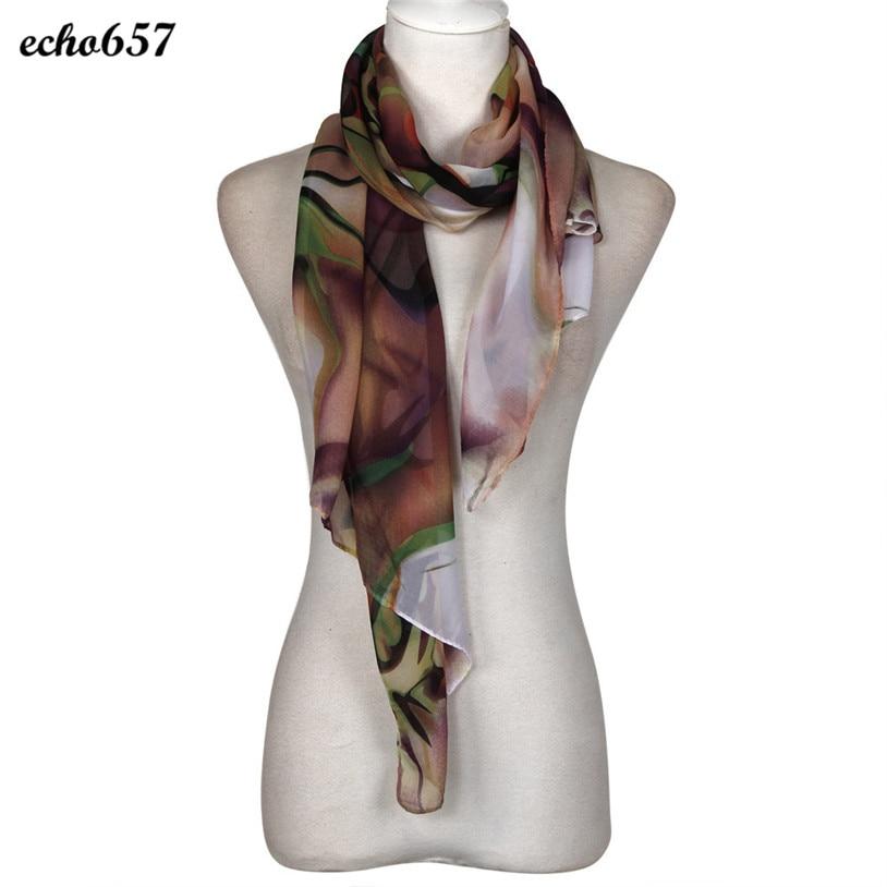Nouvelle Mode Vente Chaude Foulards Echo657 Haute Qualité De Mode de Dame  Longue Wrap Femmes Châle En Mousseline de Soie Écharpe Foulards Décembre 26 e63fb70bb98