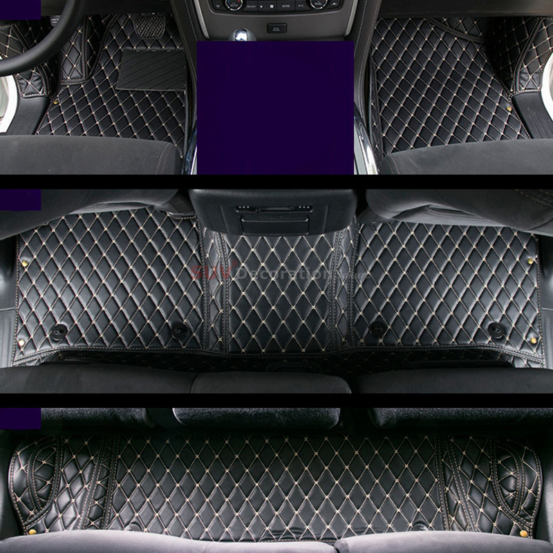 Accessories Interior Leather Car Floor Mat Carpets 1set for Nissan Patrol (Y62) Sixth generation 2010-2018 for vw volkswagen tiguan second generation 2016 2017 interior artificial leather floor carpets foot mat car styling