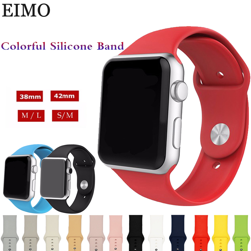 Silicone Band Strap For Apple Watch band 42mm 38mm Bracelet Watchband Wrist Watch Strap for Iwatch series 3/2/1 Accessories Belt