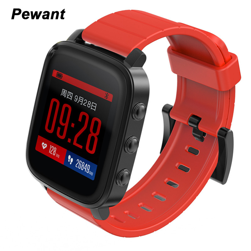 Pewant Smart Electronics Q2 Andriod Smart Watch Men With Heart Rate Monitor Waterproof Smartwatch For IOS Apple iphone 6 7 Watch for yamaha yzf r15 2013 2016 aluminum cnc adjustable extending brake clutch lever blue