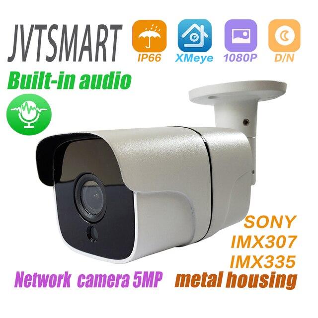 المدمج في الصوت H.265 IP كاميرا 1080P 3mp 5mp 2.8 مللي متر 3.6 مللي متر ONVIF P2P 48 فولت poe شبكة ipcam المعادن XMEye المراقبة xmeye CCTV