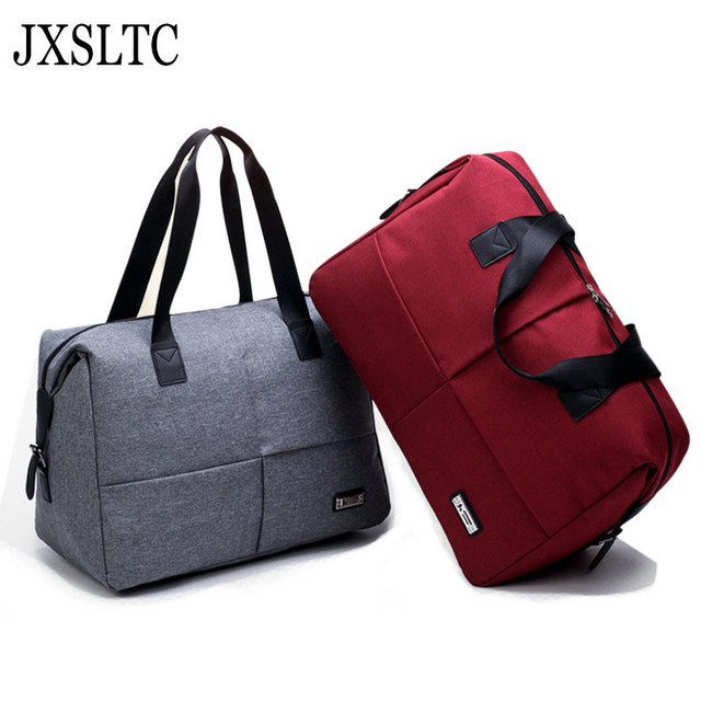 a5e4a7850a JXSLTC 2018 New Arrive Large Capacity Women Travel duffel Bags Men s Handbag  Casual Shoulder Bag Female Hand Luggage Travel Bag