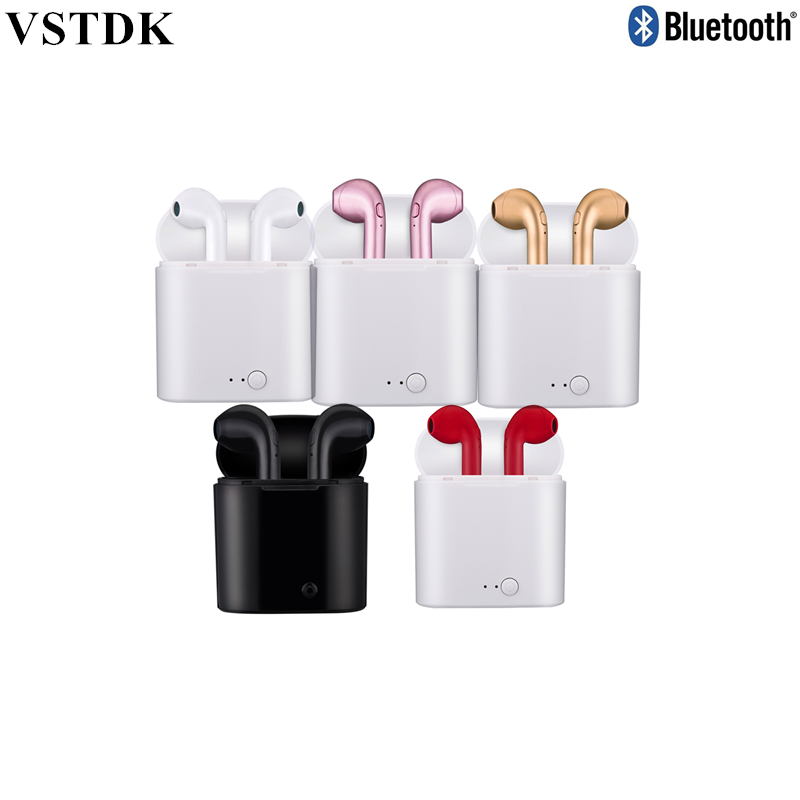 i7s tws Bluetooth Earbuds TWS Wireless Headsets Stereo In-Ear Earphones With Charging Box for ios and Android mobile phone
