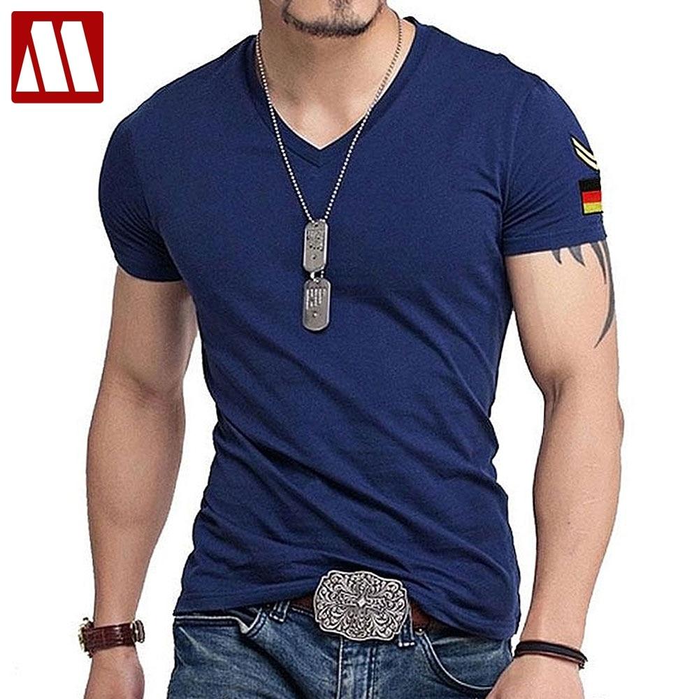Men Fashion Denim Jeans T-Shirt Casual Short Sleeve Slim Fit Tops Blouse Tees