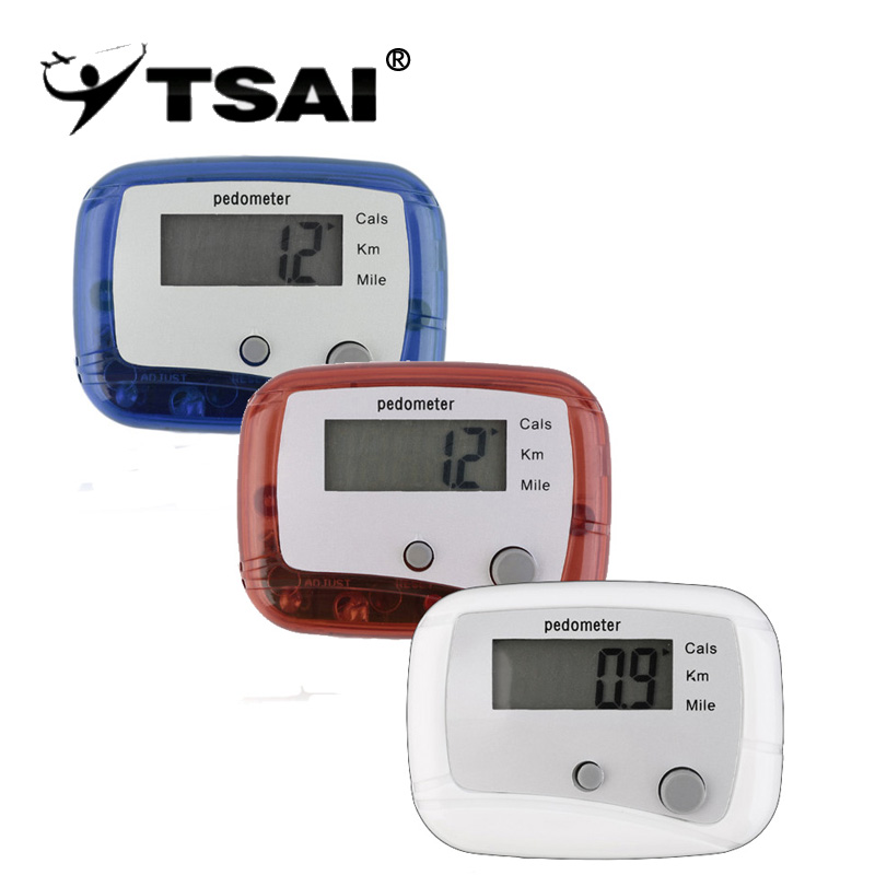 TSAI New Style Kvinder Mænd Workout Fitness Pedomete Mini Digital LCD Skridttæller Kør Jogging Trin Walking Distance Counter