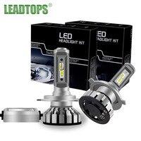 LEADTOP H7 H4 LED Car Headlights H11 H3 9005 HB3 9006 HB4 9012 Mini Auto Fog
