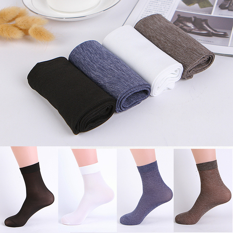 10 Pairs/ Lot Mens Socks Formal Suit Dress Hose Sexy Sheer Man Stocking Gay Business Socks Men
