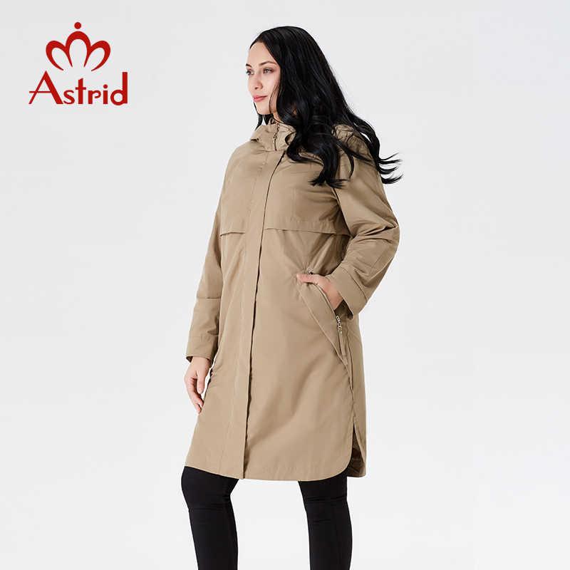 2019 Тренч Весна и осень женские повседневные с длинным рукавом с капюшоном длинные однотонные женские пальто высокого качества новые AS-9046