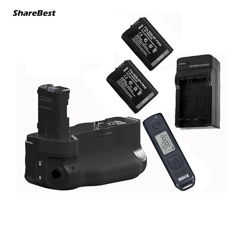 bilder für Pro Wireless Ctrl Batteriegriff für Sony A7 II A7R II A7S II als VG-C2EM 2 x NP-FW50 Batterien Ladegerät Kit