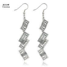 fba08495a Tocona Antique Silver Scissors Cross Dollar Ruler Leaf Pigeon Pistol Key  Pendant Drop Dangle Earrings for Women Jewelry