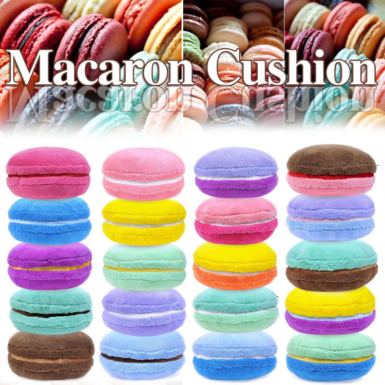 round cushion home decor decorative bright color macaron pink blue white filler throw pillow lovely fashion - Decorative Pillows Cheap