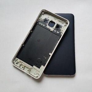 Image 1 - עבור סמסונג גלקסי A5 2015 A500 A500F A500H A500FU A500FN A500M A500FQ טלפון חזרה סוללה כיסוי שיכון מסגרת אחורי דלת מקרה