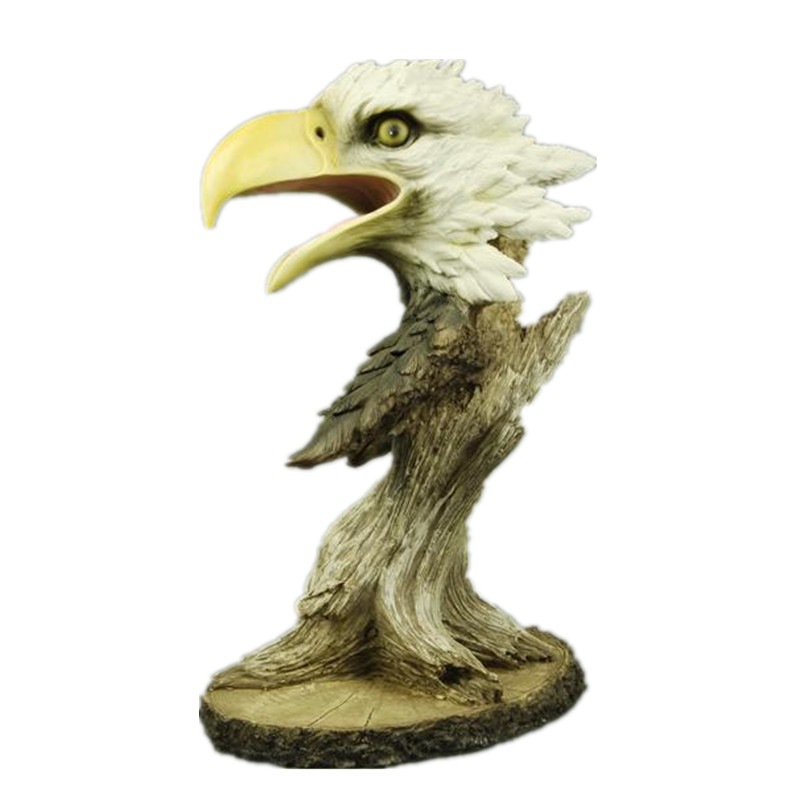 Eagles Head Faux Wood Decorative Figurine Art Statue Animal Resin Art&Craft Home Decoration R198Eagles Head Faux Wood Decorative Figurine Art Statue Animal Resin Art&Craft Home Decoration R198