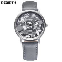 REBIRTH 2016 Top Brand Men Watch Hours Clock Luxury Fashion Designer Wristwatch Casual Mens Sports Military Leather Wristwatch