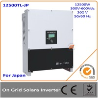 12.5KW Japan Version 300 600Vac DC to AC on grid solar inverter with MPPT transformerless 96% efficiency with MLT string