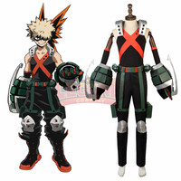 Anime My Hero Academia boku no hero academia Katsuki Bakugou Cosplay costume Custom Made full set with accessories