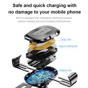 Image 5 - Baseus Qi Draadloze Oplader Autohouder Voor Iphone X 8 Samsung S9 Zuig Wireless Opladen Snellader Auto Mount Telefoon houder