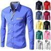 Hot Sale 2017 men shirts long sleeve cotton slim fit 13