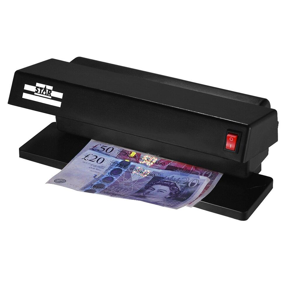 Detector de billetes falsificados multimoneda portátil ultravioleta máquina de detección de luz ultravioleta billetes de efectivo