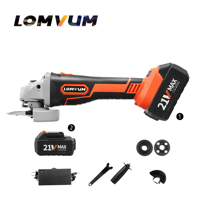 21V Spare lithium battery brushless electric angle grinder Polisher charging angle grinder grinding cutting machine power