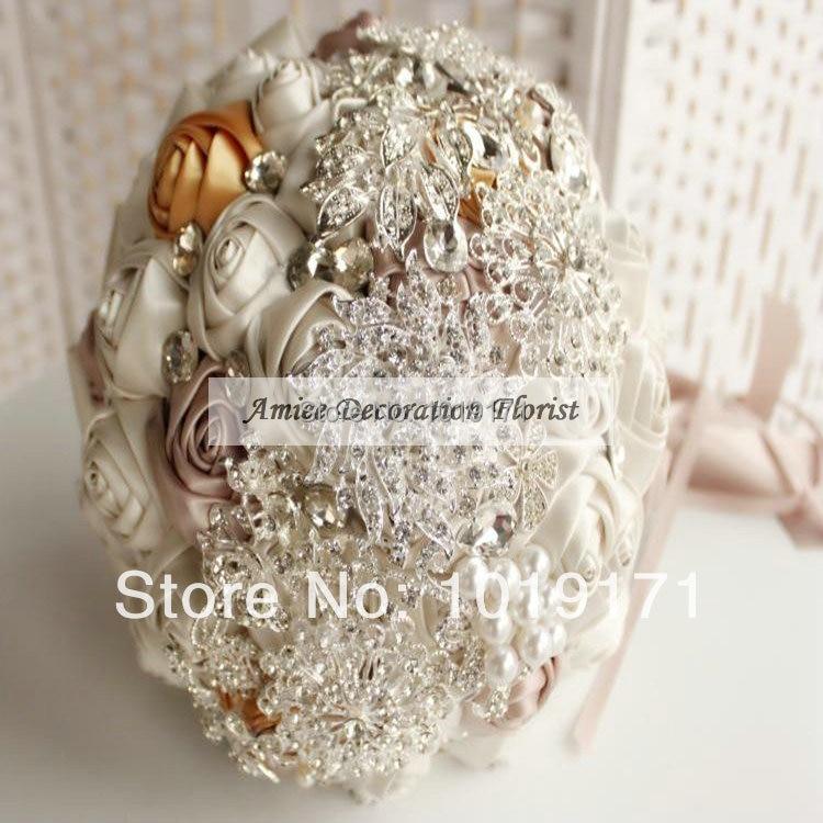New European Fabric Pearl Crystal 20cm Elegance Artificial