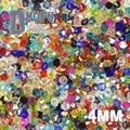 Высокое качество 4 мм 100 шт. AAA Австрийские кристаллы Bicone loose бусы бал питания AB цвет покрытия, браслет ожерелье Ювелирных Изделий