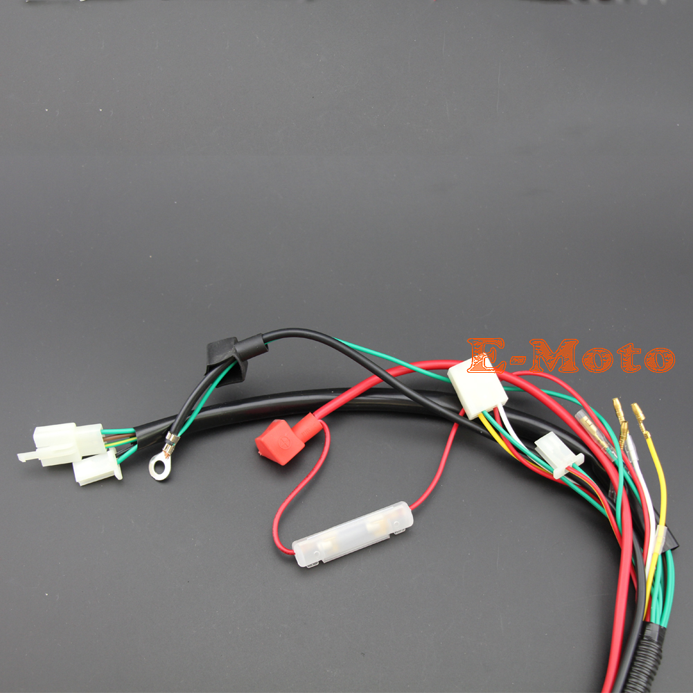 WIRE LOOM WIRING HARNESS WIRELOOM 50cc 70cc 110cc 125cc ATV QUAD BIKE BUGGY GO KART aliexpress com buy wire loom wiring harness wireloom 50cc 70cc wiring harness loom at n-0.co