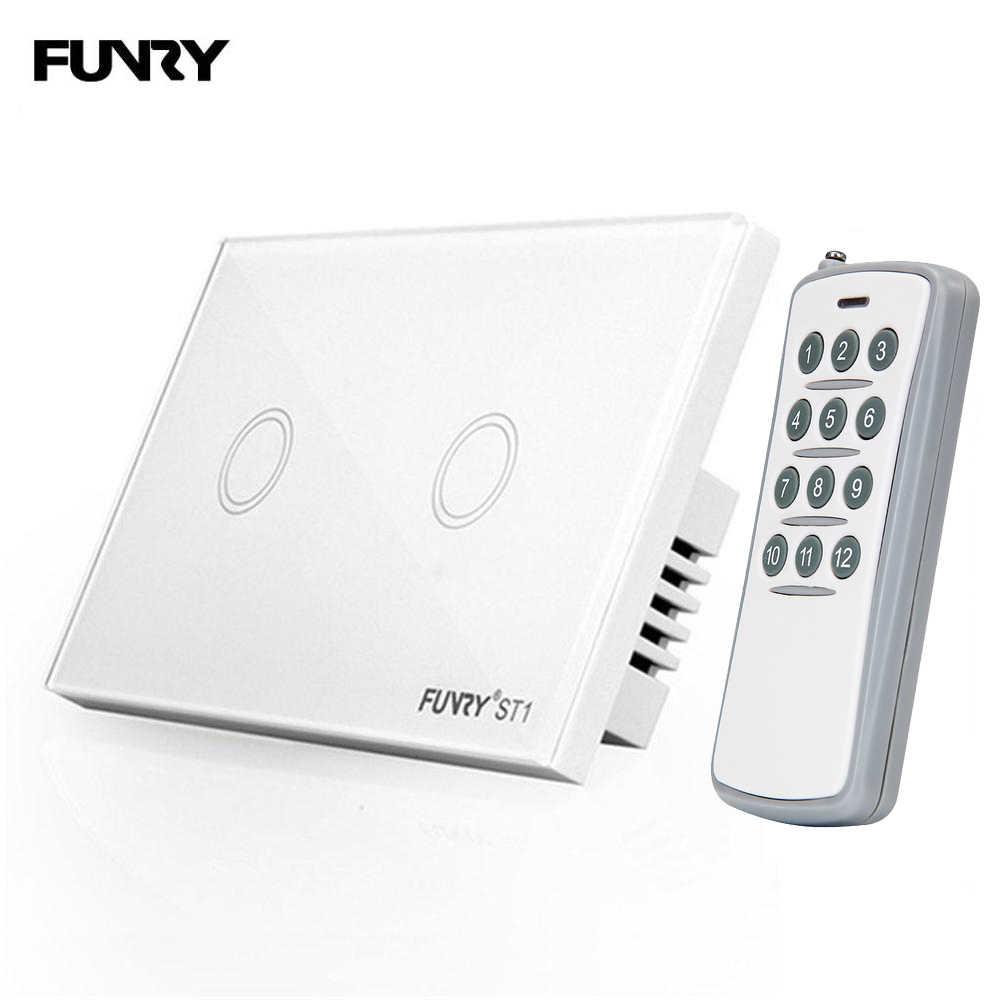 Touch Wall Light Switch 1 Gang 1 Way Eu  Uk Standard Home