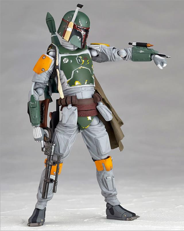 Star Wars REVO 005 Boba Fett PVC Action Figure Collectible Model Toy 16cm KT1283  funko pop star wars boba fett 08 pvc action figure collectible model toy 12cm fkfg126 retail box sp050