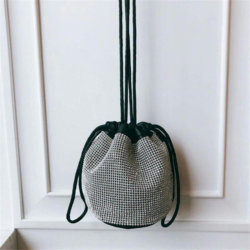 2019 Summer Bucket Handbags Women Vintage Top-handle Bags Shining Design Female Large Capacity Shoulder Bag Ladies Messenger Bag