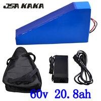 60 V Dreieck batterie 60 V 20AH elektrische fahrrad Lithium batterie 60 V 20AH 1500 W 2000 W elektrische roller batterie mit 67 2 V ladegerät + tasche|Elektrofahrrad Akku|Sport und Unterhaltung -