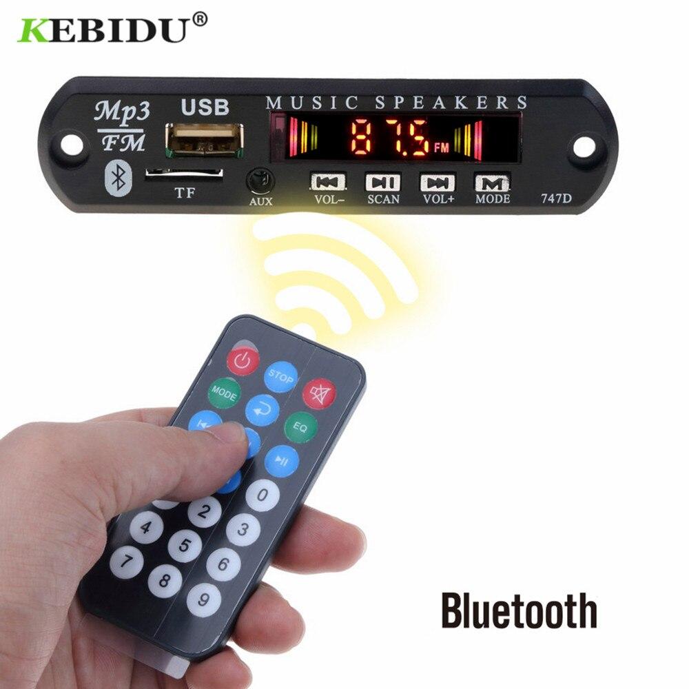 KBBIDU placa decodificadora de MP3 5V 12V MP3 jugador decodificador de FM Radio TF USB 3,5 Mm WMA AUX Audio receptor Kit de coche