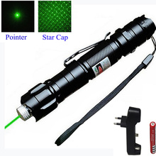 Cheap price High Power Laser Pointer 1000m 5mW Green Hang-type Outdoor Long Distance Laser Sight Lasers Sight with Charger +18650 battery