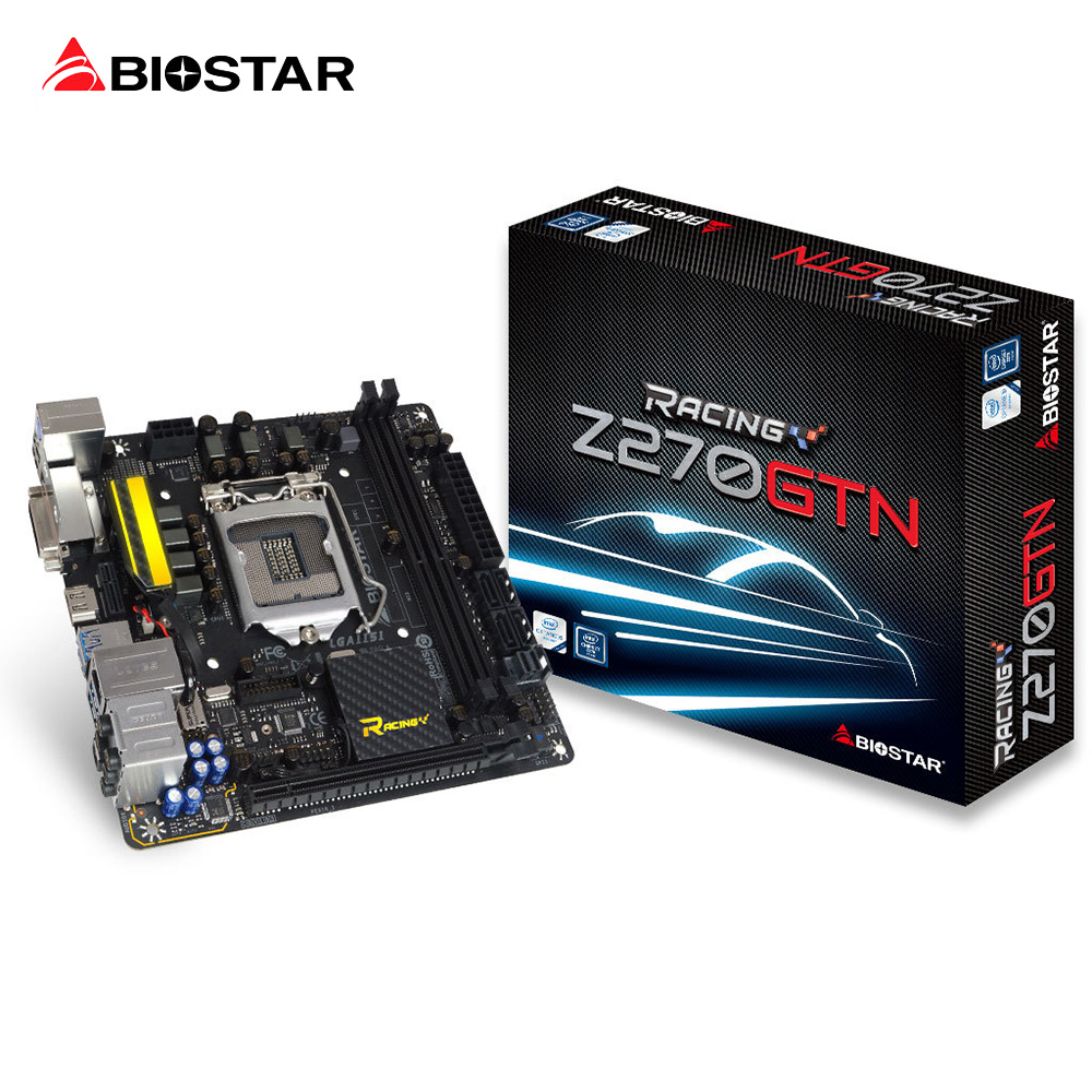 BIOSTAR Z270GTN 1151 Motherboard DDR4 Support 7500 7700K 32G Z270 LGA 1151 Core i7 i5 i3 Pentium Desktop Computer Motherboard ...