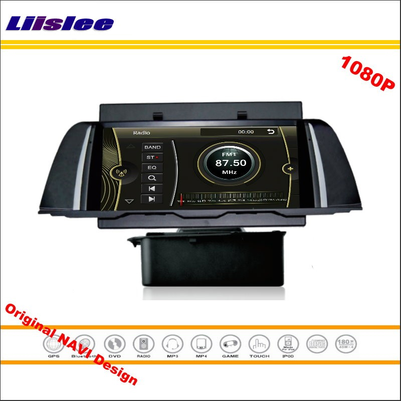 Liislee For BMW F10 2013~2014 Car Stereo Radio CD DVD Player GPS Nav Navi Navigation 1080P HD Screen System Original NAVI Design