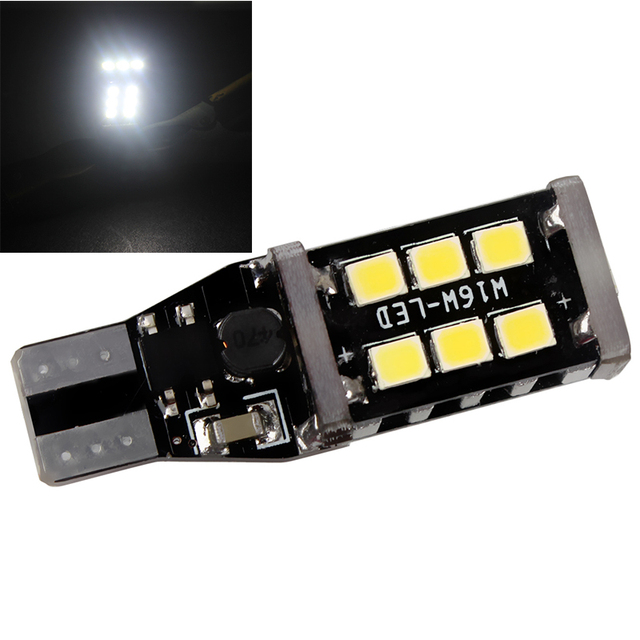 LED T5 2835 15smd Auto Replacement Parts Automobile Reversing Light Universal Decoding  DC 12V Car styling