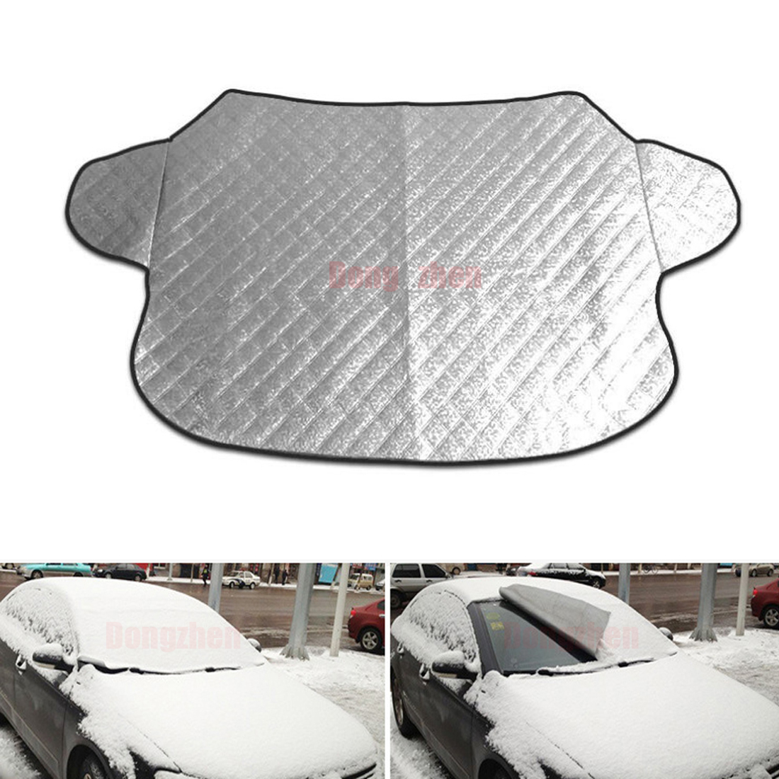 Dongzhen Auto Window Sunshade Covers Car Sun Reflective Shade Windshield Snow Cover For SUV And Ordinary Car Window Sunshade