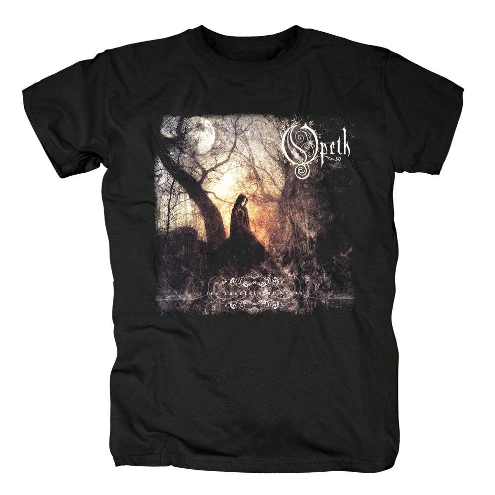 Бесплатная доставка Opeth логотип/групповой снимок черный 100% хлопок новая футболка