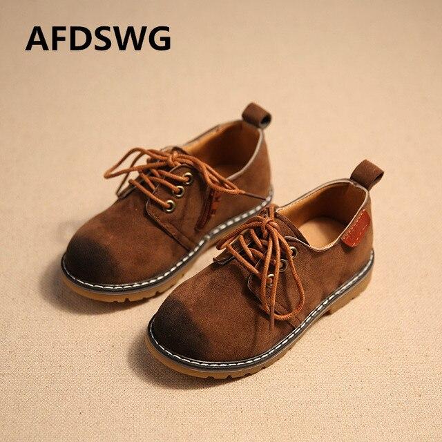 50712430c288 AFDSWG PU tendon soft brown kids leather shoes gray princess girls shoes  brown school shoes boys kids princess shoes