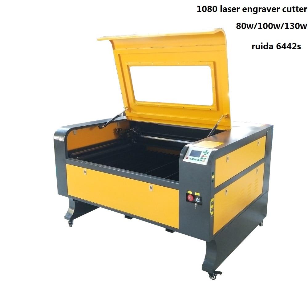 JIN ZHI YIN 80W 100W 130W laser cutting engraving machine 1000 800mm ruida 6442s controller PMI
