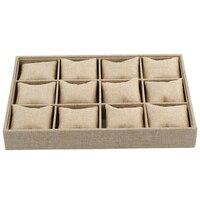 12 חריצי תיבת מגש תצוגת צמיד שרשרת עגיל תכשיטים בסגנון כרית מיכל מקרה קופסות תכשיטי מארגן מתנה