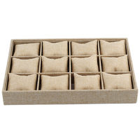 12 Slots Pillow Style Jewelry Watch Bracelet Display Tray Box Necklace Earring Container Boxes Case Jewelry
