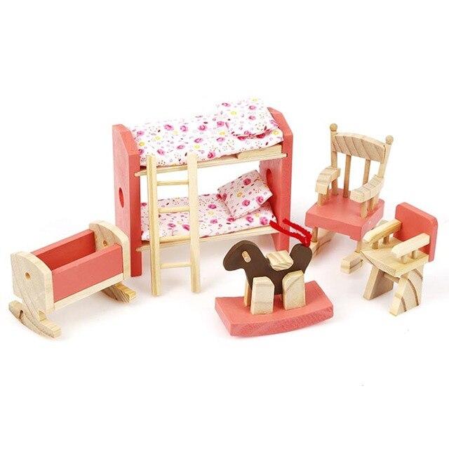 Juguete del juego de los niños cocina juguete de madera chica DIY ...