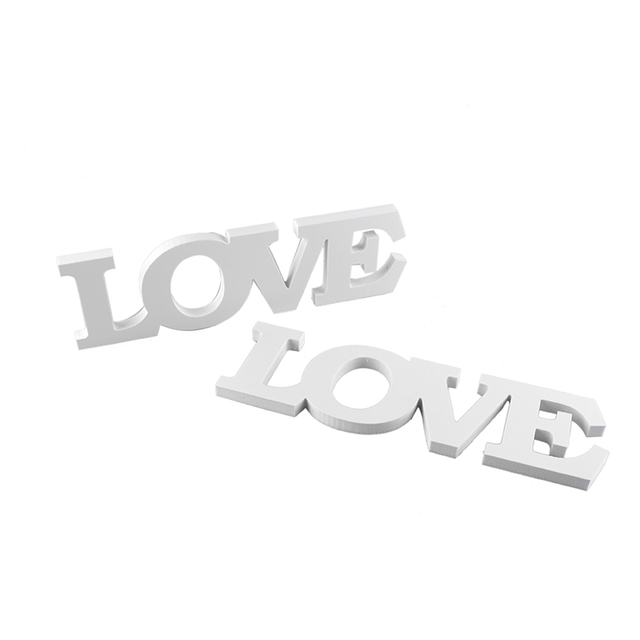 US $4.49 10% OFF|Cupcake Inserted Card LOVE Letters Decorating Tools Baking  Supplies Cake Topper Home Decor 8cm Wooden White Letters-in Figurines & ...