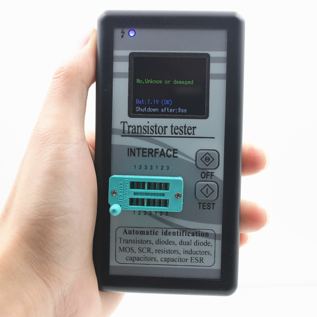 Multifunction Transistor Tester 128*160 Diode Thyristor Capacitance Resistor Inductance For MOSFET ESR LCR Meter