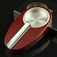 GALINER Gỗ Cigar Gạt Tàn Thép Không Gỉ Gạt Tàn Thuốc Mini Pocket Gạt Tàn Xách Tay Tro Thuốc Lá Tray Với Duy Nhất Holder Ash Khe Cắm